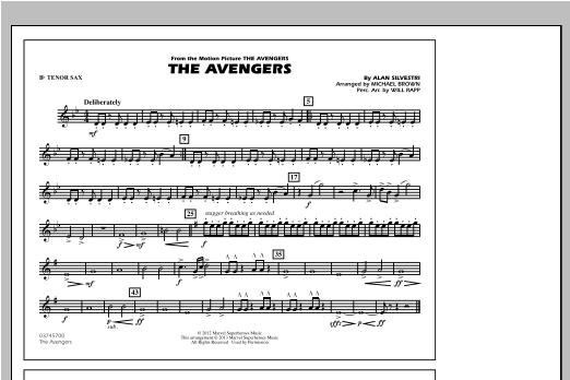 The Avengers - Bb Tenor Sax Sheet Music