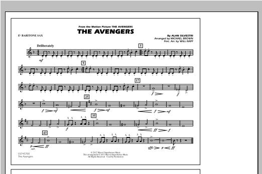 The Avengers - Eb Baritone Sax Sheet Music