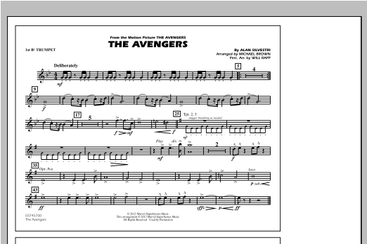 The Avengers - 1st Bb Trumpet Sheet Music