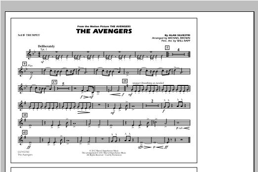 The Avengers - 3rd Bb Trumpet Sheet Music