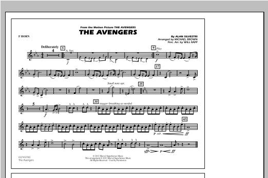 The Avengers - F Horn Sheet Music