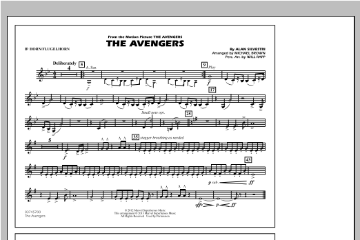 The Avengers - Bb Horn/Flugelhorn Sheet Music