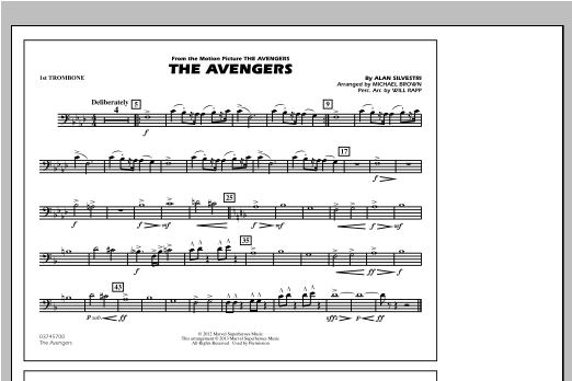 The Avengers - 1st Trombone Sheet Music