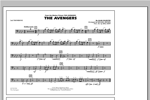 The Avengers - 2nd Trombone Sheet Music