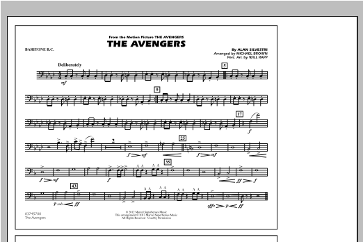The Avengers - Baritone B.C. Sheet Music