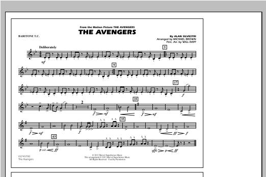 The Avengers - Baritone T.C. Sheet Music
