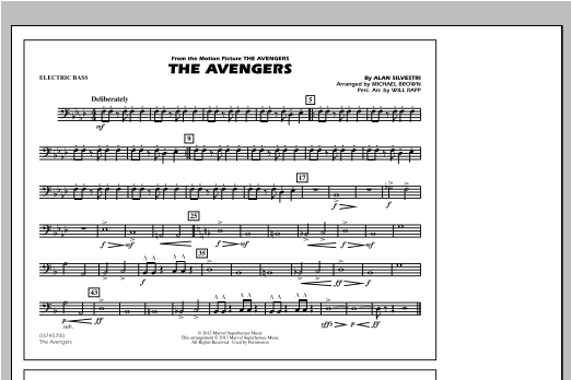 The Avengers - Electric Bass Sheet Music