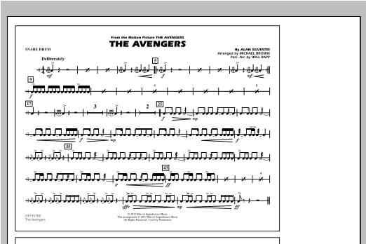 The Avengers - Snare Drum Sheet Music