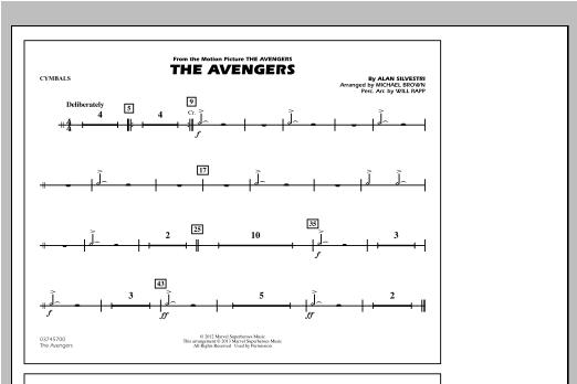 The Avengers - Cymbals Sheet Music