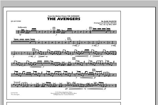 The Avengers - Quad Toms Sheet Music
