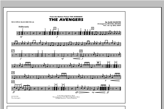 The Avengers - Multiple Bass Drums Sheet Music