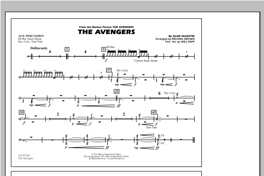 The Avengers - Aux Percussion Sheet Music