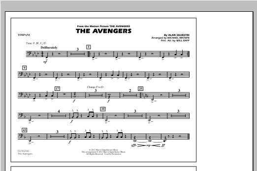 The Avengers - Timpani Digitale Noten