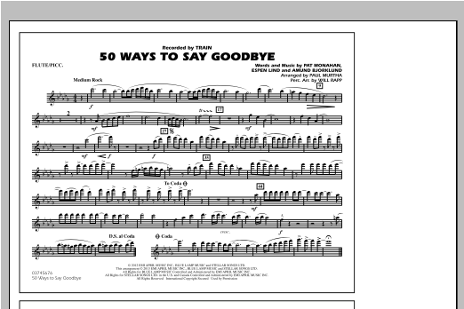 50 Ways To Say Goodbye - Flute/Piccolo Sheet Music