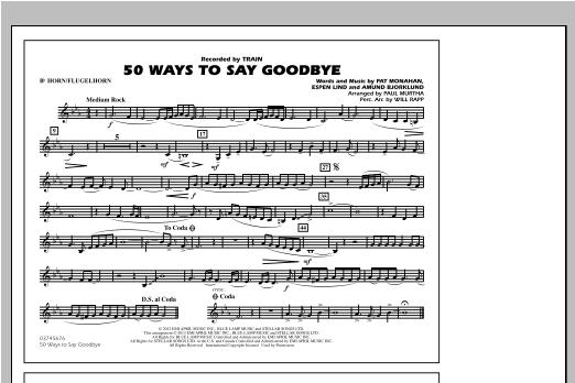 50 Ways To Say Goodbye - Bb Horn/Flugelhorn Sheet Music