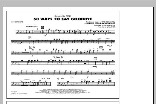 50 Ways To Say Goodbye - 1st Trombone Sheet Music