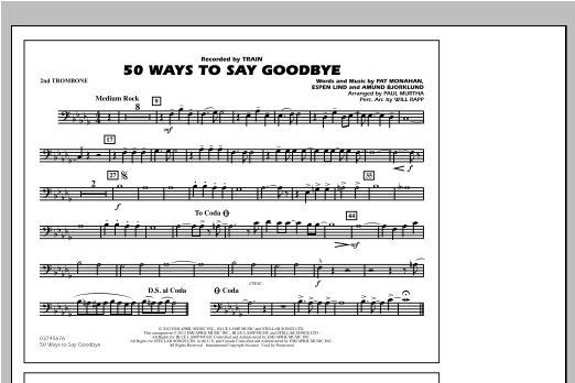 50 Ways To Say Goodbye - 2nd Trombone Sheet Music