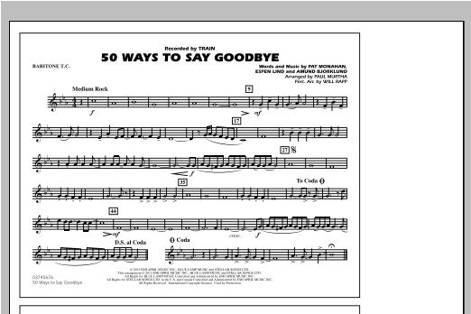 50 Ways To Say Goodbye - Baritone T.C. Sheet Music