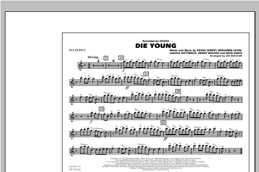 Die Young - Flute/Piccolo Sheet Music
