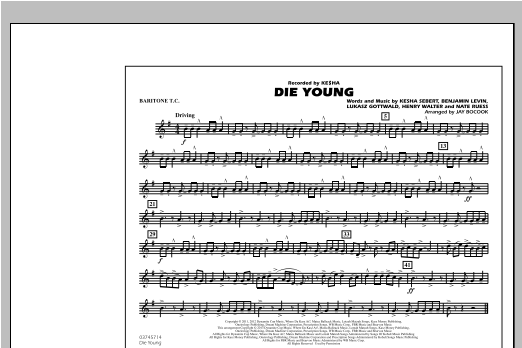 Die Young - Baritone T.C. Sheet Music