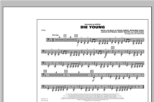 Die Young - Tuba Sheet Music