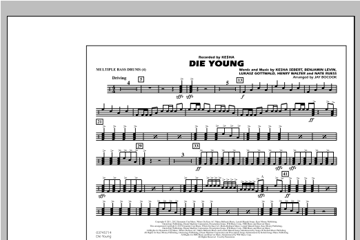 Die Young - Multiple Bass Drums Sheet Music