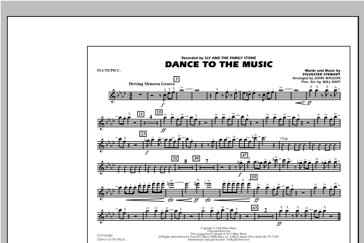 Dance To The Music - Flute/Piccolo Sheet Music