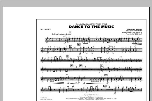 Dance To The Music - Bb Clarinet Sheet Music