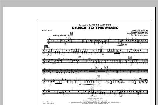 Dance To The Music - Eb Alto Sax Sheet Music