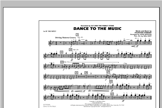 Dance To The Music - 1st Bb Trumpet Sheet Music