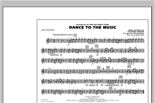 Dance To The Music - 2nd Bb Trumpet Sheet Music