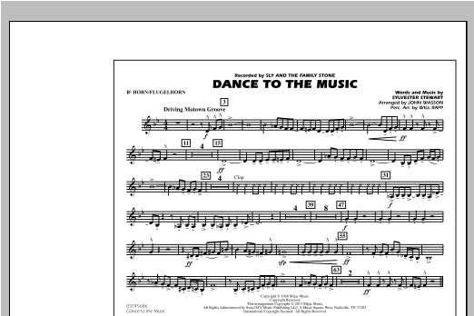 Dance To The Music - Bb Horn/Flugelhorn Sheet Music