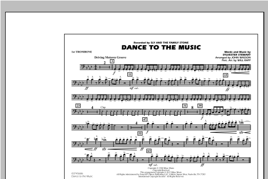 Dance To The Music - 1st Trombone Sheet Music