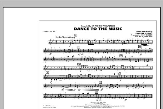 Dance To The Music - Baritone T.C. Sheet Music