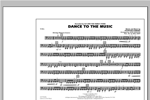 Dance To The Music - Tuba Sheet Music
