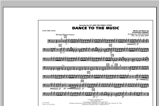Dance To The Music - Electric Bass Sheet Music