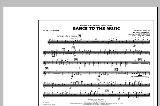 Dance To The Music - Bells/Xylophone Sheet Music