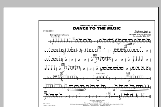 Dance To The Music - Snare Drum Sheet Music