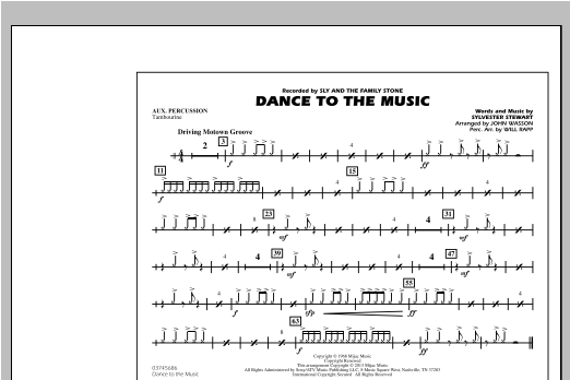 Dance To The Music - Aux Percussion Sheet Music