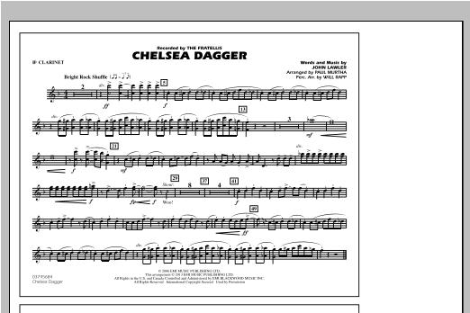 Chelsea Dagger - Bb Clarinet Sheet Music