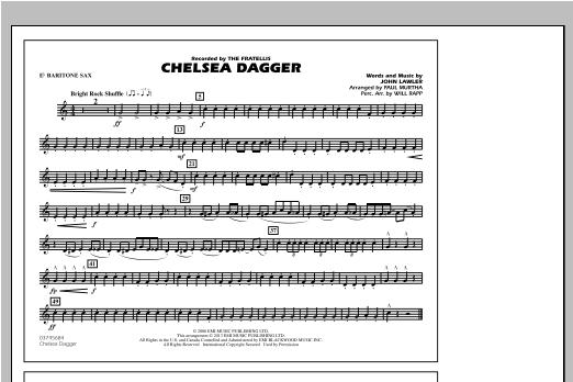 Chelsea Dagger - Eb Baritone Sax Partituras Digitales