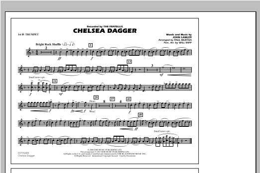 Chelsea Dagger - 1st Bb Trumpet Partition Digitale