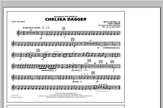 Chelsea Dagger - 3rd Bb Trumpet Sheet Music