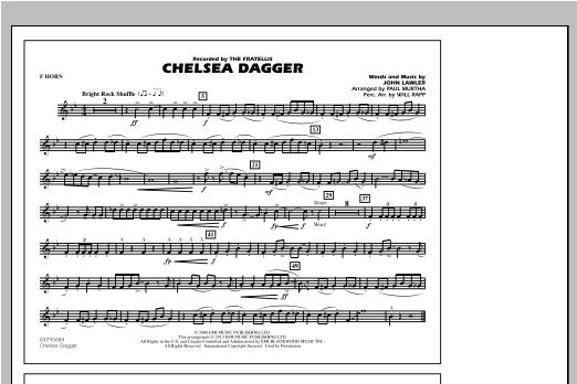 Chelsea Dagger - F Horn Sheet Music
