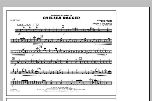 Chelsea Dagger - Quad Toms Partition Digitale