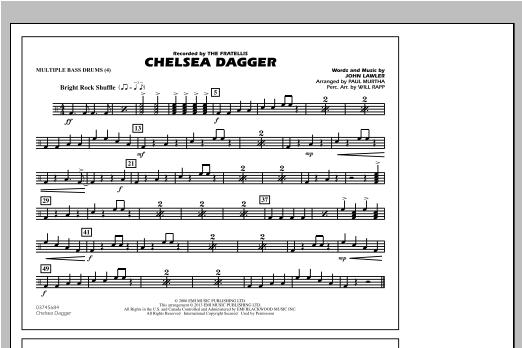 Chelsea Dagger - Multiple Bass Drums Sheet Music
