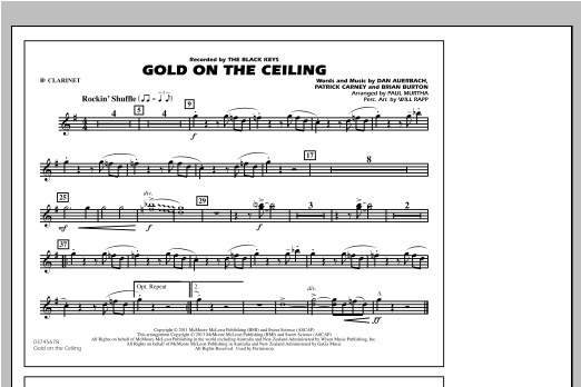 Gold On The Ceiling - Bb Clarinet Sheet Music