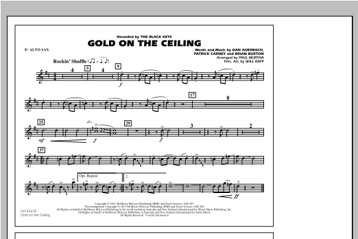 Gold On The Ceiling - Eb Alto Sax Sheet Music
