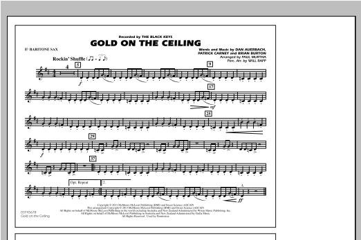Gold On The Ceiling - Eb Baritone Sax Sheet Music