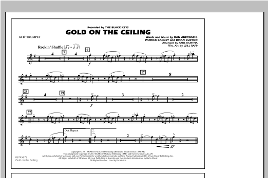 Gold On The Ceiling - 1st Bb Trumpet Sheet Music